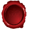 Oval wax seal Stock Photography
