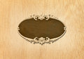 Oval wood frame carved on background Royalty Free Stock Photo