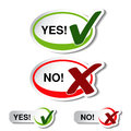 Oval yes no button check mark symbol illustration Royalty Free Stock Image