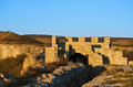 Ovech fort in the light of setting sun provadia bulgaria Stock Photography