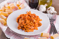Oven baked pasta. Royalty Free Stock Image