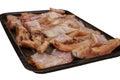 Oven fried pieces van vissen Royalty-vrije Stock Afbeeldingen