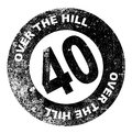 Over the Hill Stamp Royalty Free Stock Photo