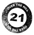 Over the Hill 21 Stamp Royalty Free Stock Photo