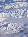 Over the New Zealand's Southern Alps Stock Image
