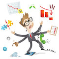 Over-worked businessman Stock Photo