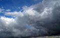 Overcast sky with storm clouds gray Royalty Free Stock Photo