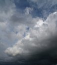 Overcast sky with storm clouds gray Royalty Free Stock Photos