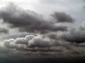 Overcast sky with storm clouds gray Royalty Free Stock Images