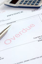 Overdue Invoice Royalty Free Stock Photo