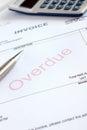 Overdue Invoice Royalty Free Stock Photo
