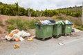 Overflowing bins Royalty Free Stock Photo