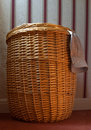 Overflowing Washing Basket Stock Photo