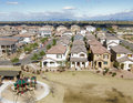 Overhead shot of suburbia in AZ Stock Photo