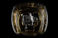 Overhead shot of whiskey Royalty Free Stock Photo