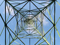 Overhead transmission tower Royalty Free Stock Photo