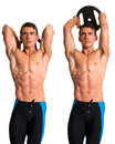 Overhead Tricep Extension Royalty Free Stock Photo