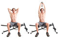 Overhead Triceps Extension Royalty Free Stock Photo