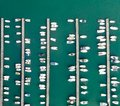 Overhead view of docked boats in the port
