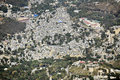 Overhead view of a port au prince neighborhood an very crowded in haiti Royalty Free Stock Photo