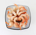 Overhead View Shrimp Cocktail Royalty Free Stock Images