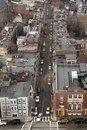 Overhead view of a street in charlestown the neighborhood boston Royalty Free Stock Images