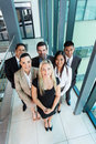 Overhead view team of business in modern office Stock Photos