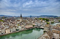 Overhead view of zurich Royalty Free Stock Photo
