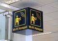 Wi-fi hotspot sign.