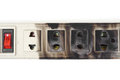 Overheat surge protector caught on fire due to Royalty Free Stock Photos