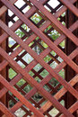 Overlapping brown wooden lattice Royalty Free Stock Photo