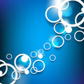 Overlapping circles concept background vector Stock Photography