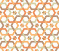 Overlapping hexagons - seamless pattern Stock Photos