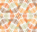 Overlapping intensive and seamless patterns Royalty Free Stock Image