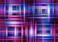 Overlapping light beams background crossing blue and red stripes on a black Royalty Free Stock Images