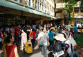 Overload at asia hospital ho chi minh city vietnam july clinic crowd of sick person standing waiting to submit fee crowded of Stock Photography