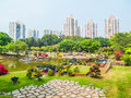Overlook the architectural miniature landscape this photo was taken in splendid china scenic spot shenzhen city china it is Stock Images
