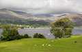 Overlook of Coniston Water in Lake District Stock Photos