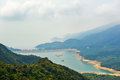 Overlook shek pik reservoir the photo was taken in lantau south country park hongkong china Royalty Free Stock Images
