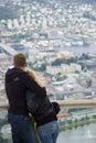 Overlooking Bergen, Norway Royalty Free Stock Photo