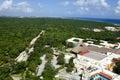Overlooking the Caribbean coastline of the Yucatán Peninsula Royalty Free Stock Photo