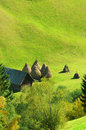 Overlooking hillside farm