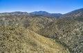 Overlooking view at Santa Rosa and San Jacinto Mountains National Monument, California Royalty Free Stock Photo