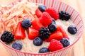 Overnight oats Royalty Free Stock Photo