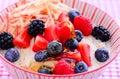 Overnight oats with honey Royalty Free Stock Photo