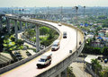 Overpass in bangkok modern highway thailand aerial view Royalty Free Stock Photo