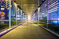 Overpass at night of guangzhou in downtown Stock Photography
