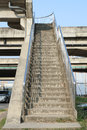 Overpass stair concrete in the city Stock Image