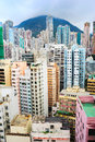 Overpopulated Hong Kong Stock Image