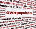 Overpopulation global problem creative poster Royalty Free Stock Photo